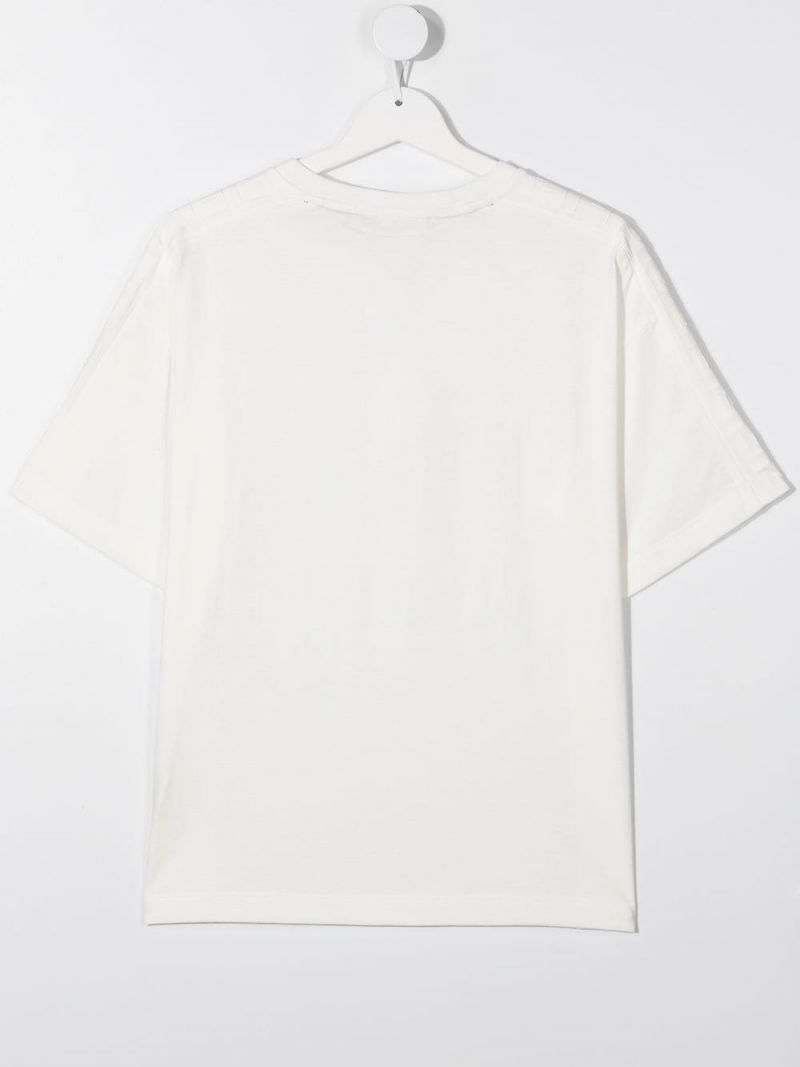FENDI KIDS: Fendi print cotton t-shirt Color Neutral_2