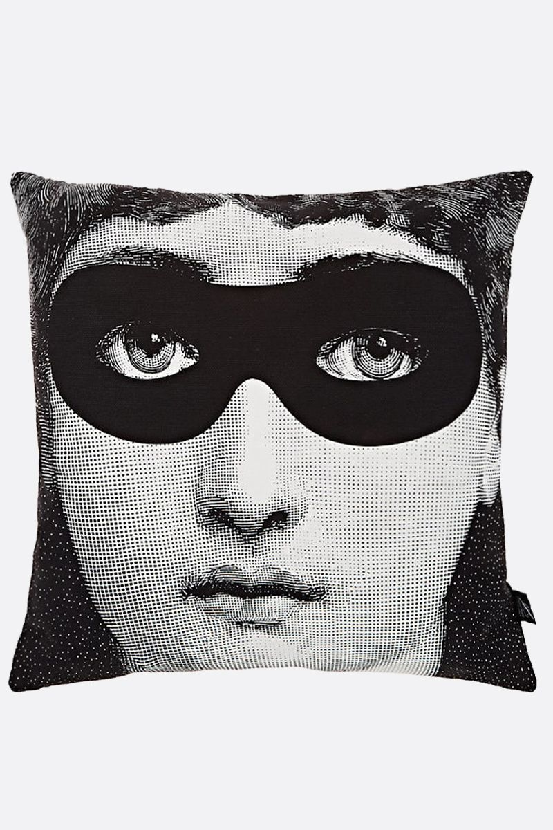 FORNASETTI: Burlesque canvas cushion Color White_2
