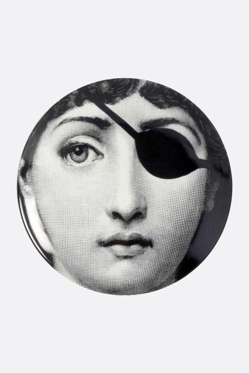 FORNASETTI: Tema e Variazione n.8 ceramic wall plate Color Grey