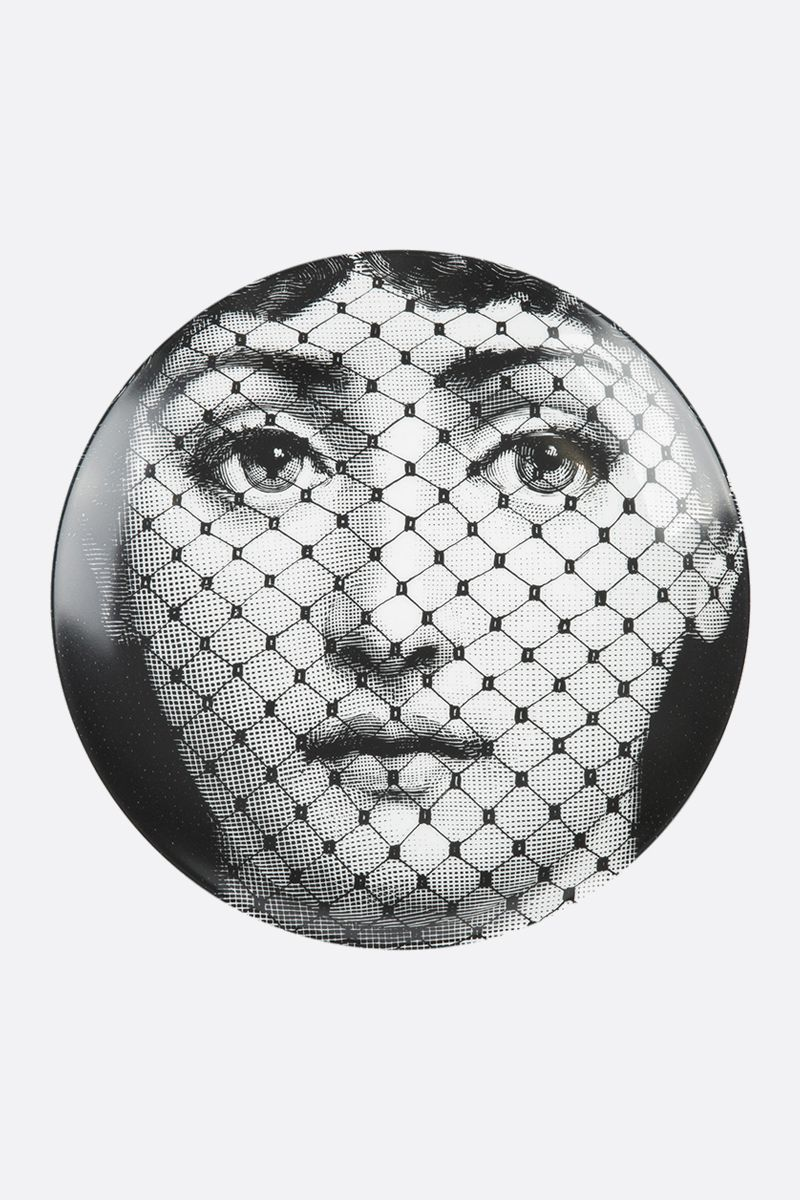 FORNASETTI: Tema e Variazione n.78 ceramic wall plate Color Grey