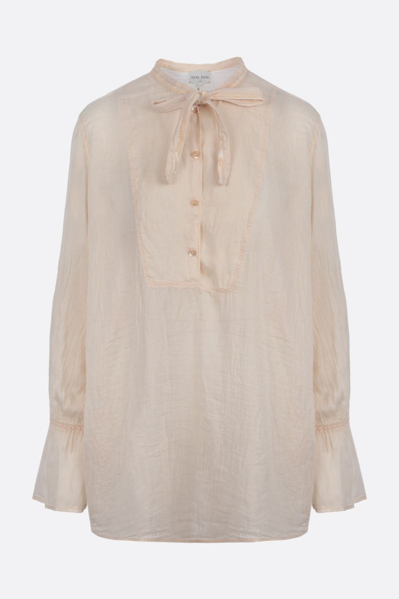 FORTE FORTE: cotton silk blend blouse Color White_1