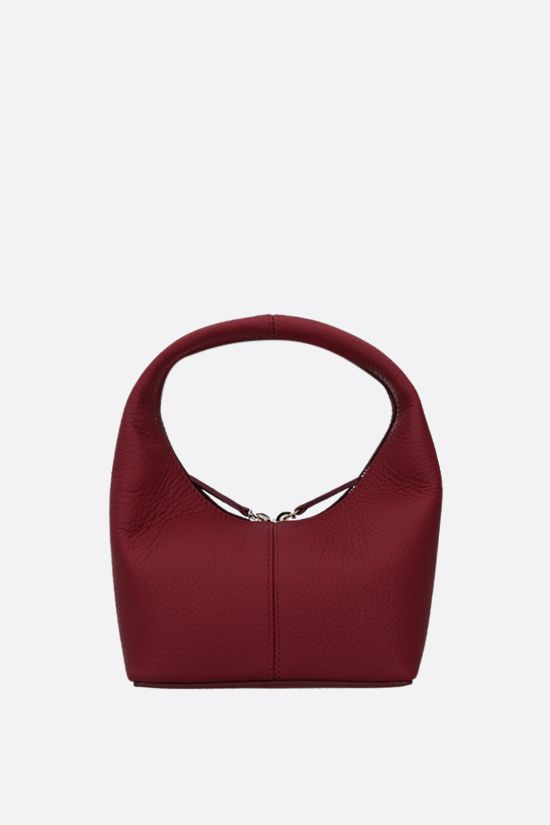 FRENZLAUER: Panier mini grainy leather handbag Color Red_1