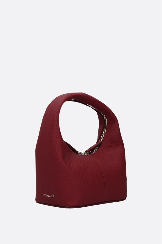 FRENZLAUER: Panier mini grainy leather handbag Color Red_2