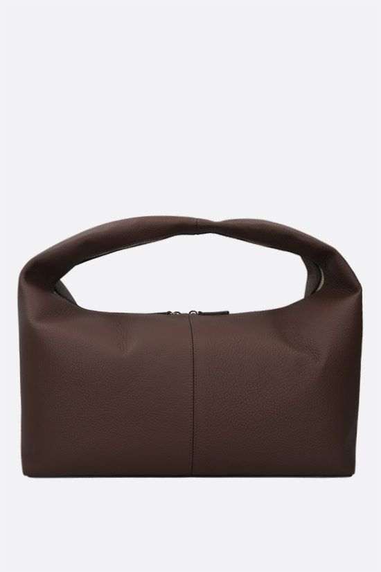 FRENZLAUER: Grand Panier grainy leather handbag Color Brown_1