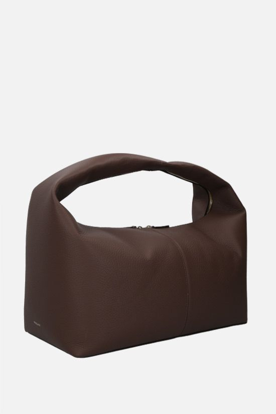 FRENZLAUER: Grand Panier grainy leather handbag Color Brown_2