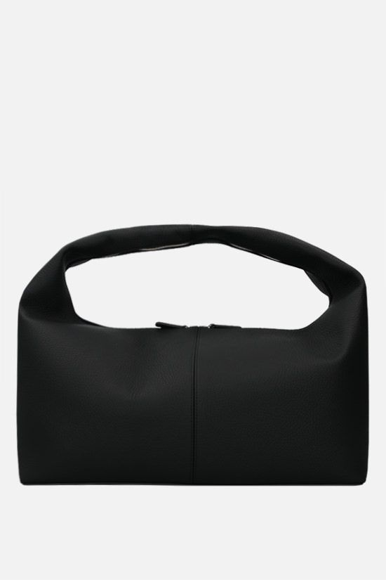 FRENZLAUER: Grand Panier grainy leather handbag Color Black_1