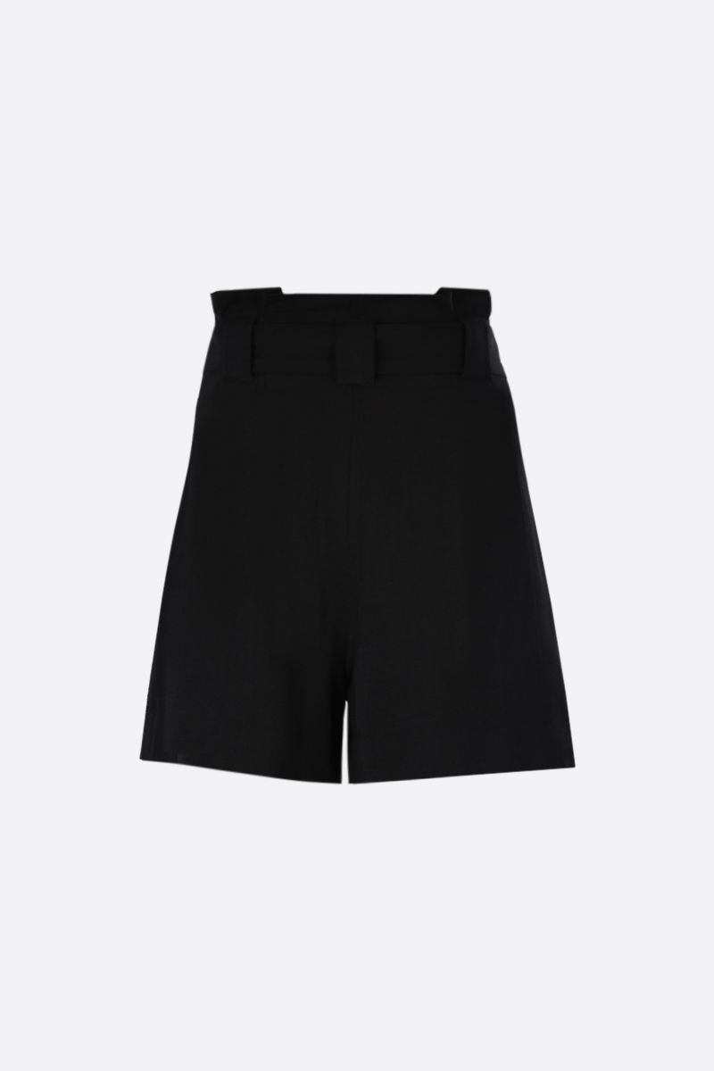 GANNI: crepe darted shorts Color Black_2