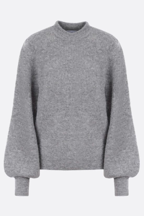 GANNI: wool alpaca blend pullover Color Grey_1