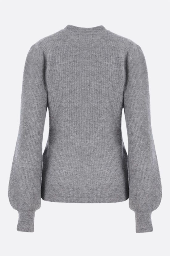 GANNI: wool alpaca blend pullover Color Grey_2