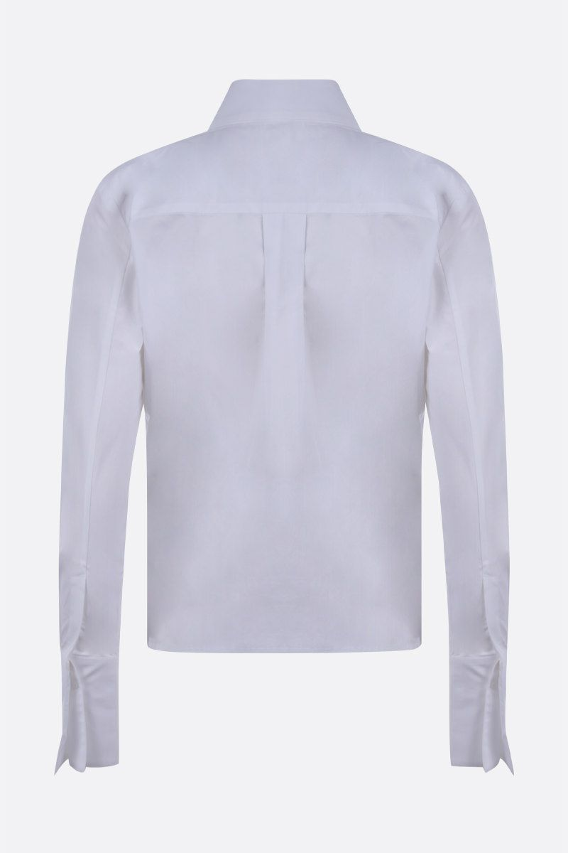 GAUGE81: Crete poplin pleated shirt Color White_2