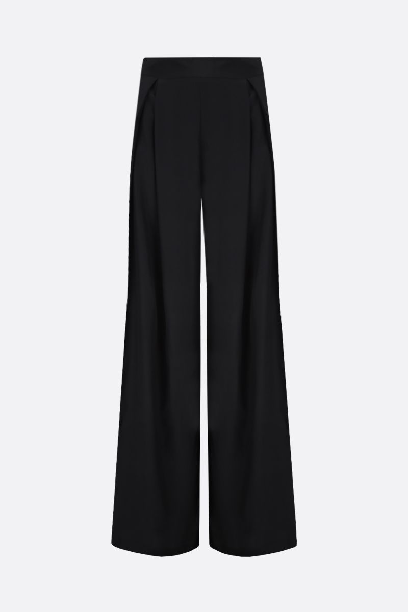 GAUGE81: Saga silk satin wide-leg pants Color Black_1