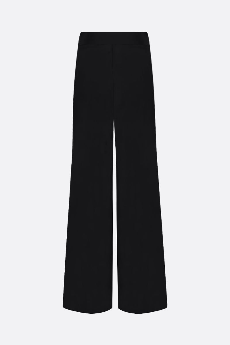 GAUGE81: Saga silk satin wide-leg pants Color Black_2