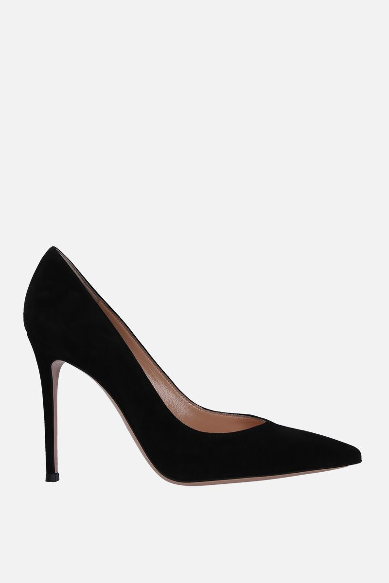 GIANVITO ROSSI: Gianvito suede pumps Color Black_1