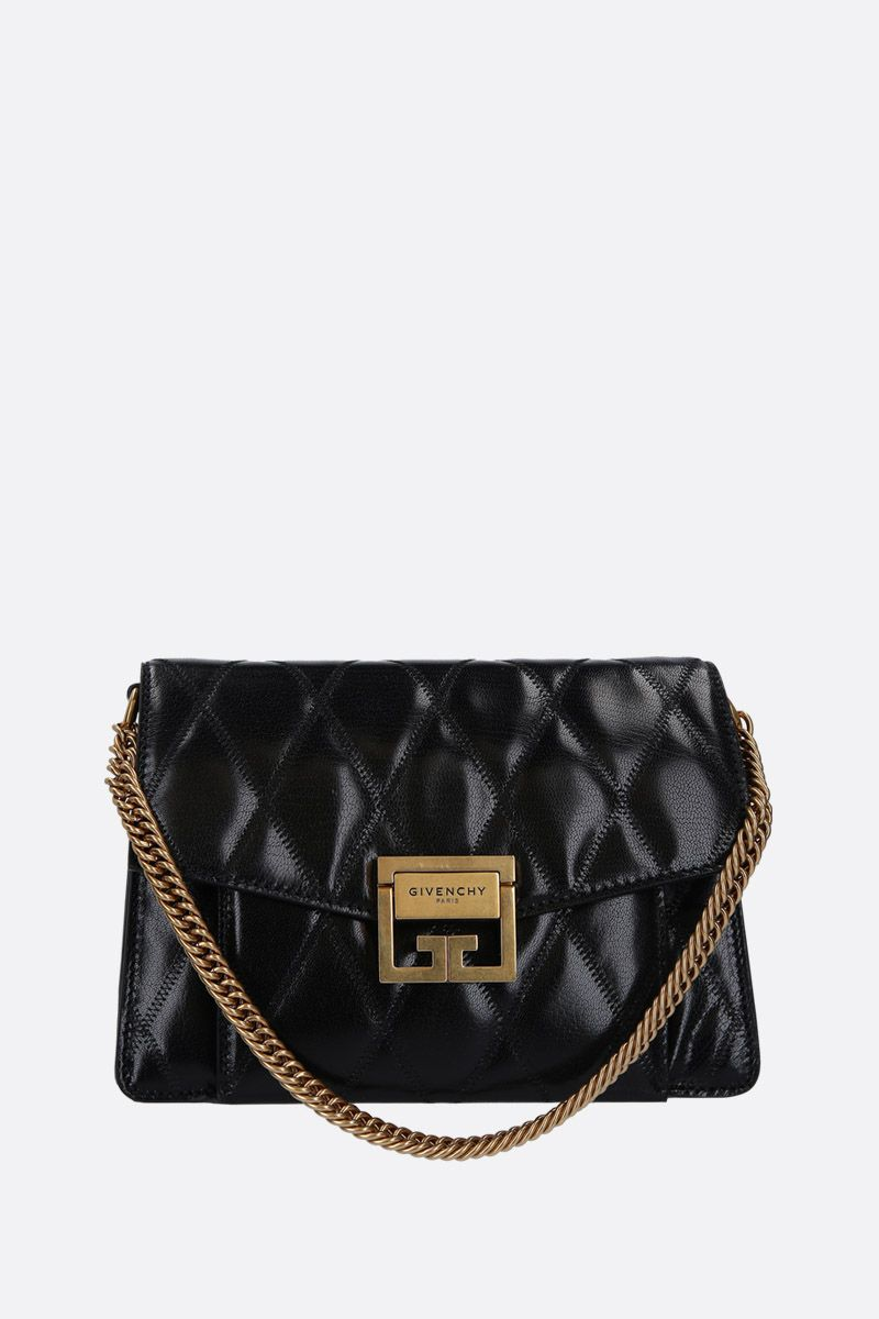 GIVENCHY: GV3 small quilted leather shoulder bag Color Black_1