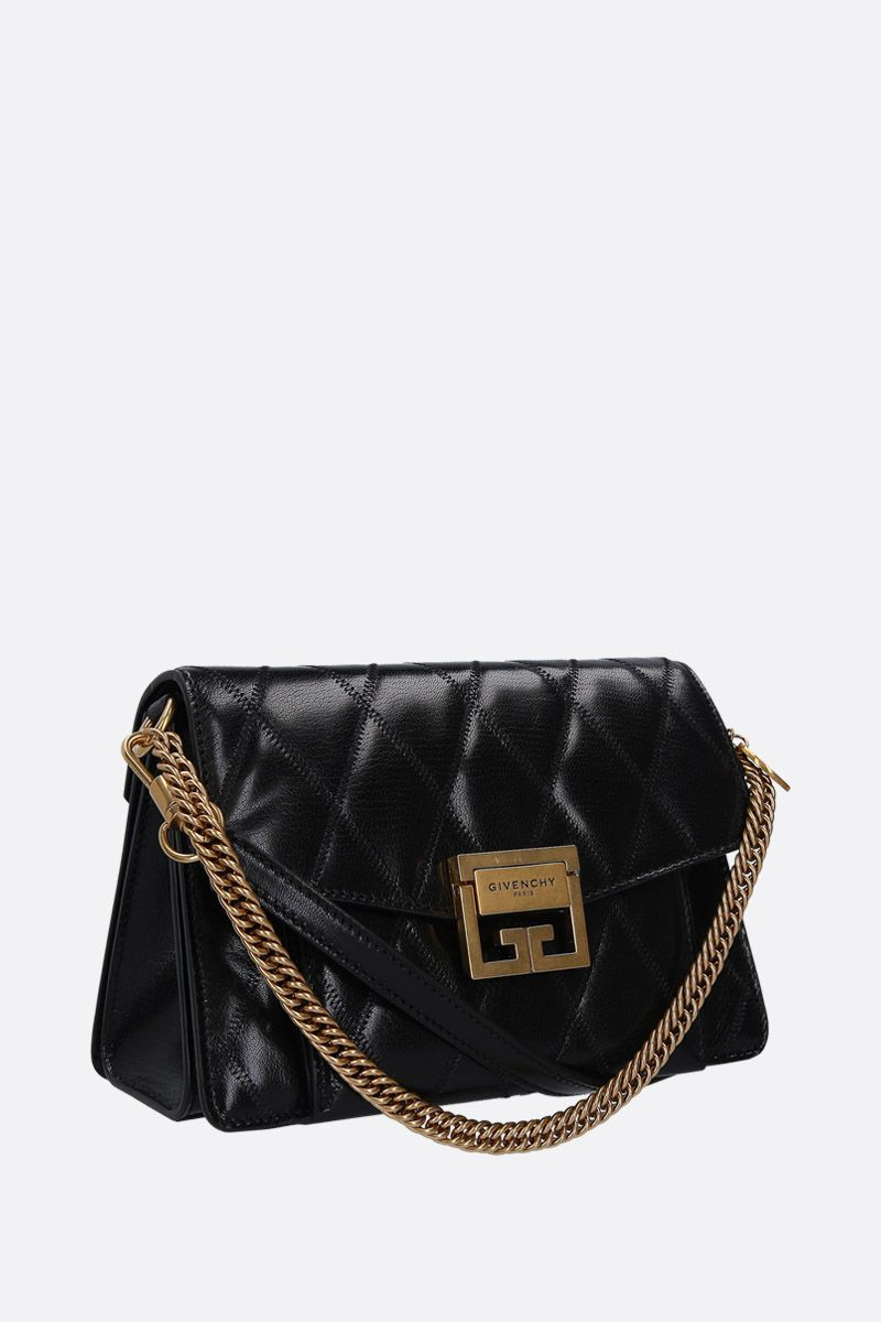 GIVENCHY: GV3 small quilted leather shoulder bag Color Black_2