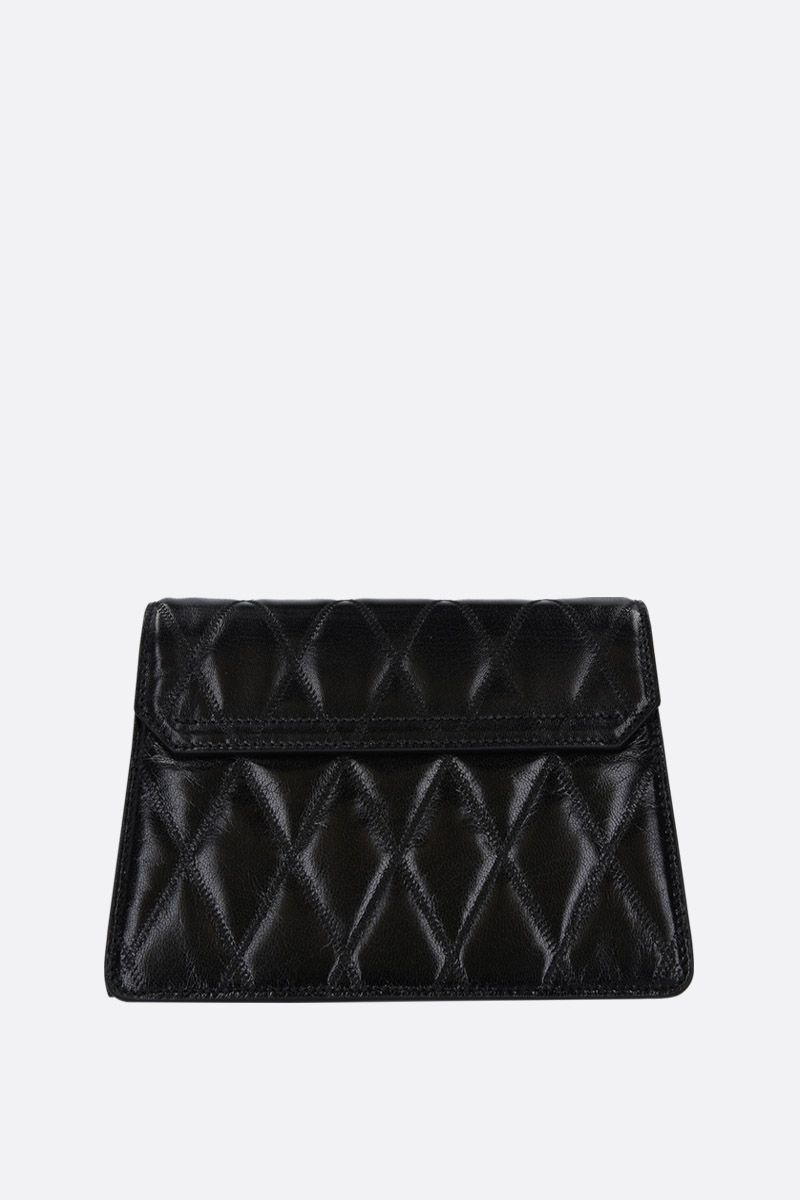 GIVENCHY: GV3 small quilted leather shoulder bag Color Black_3