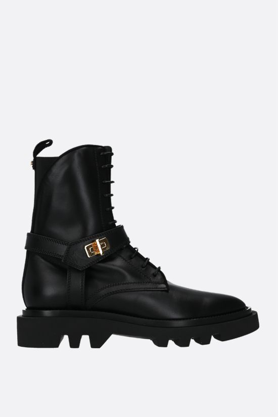 GIVENCHY: Eden smooth leather combat boots Color Black_1