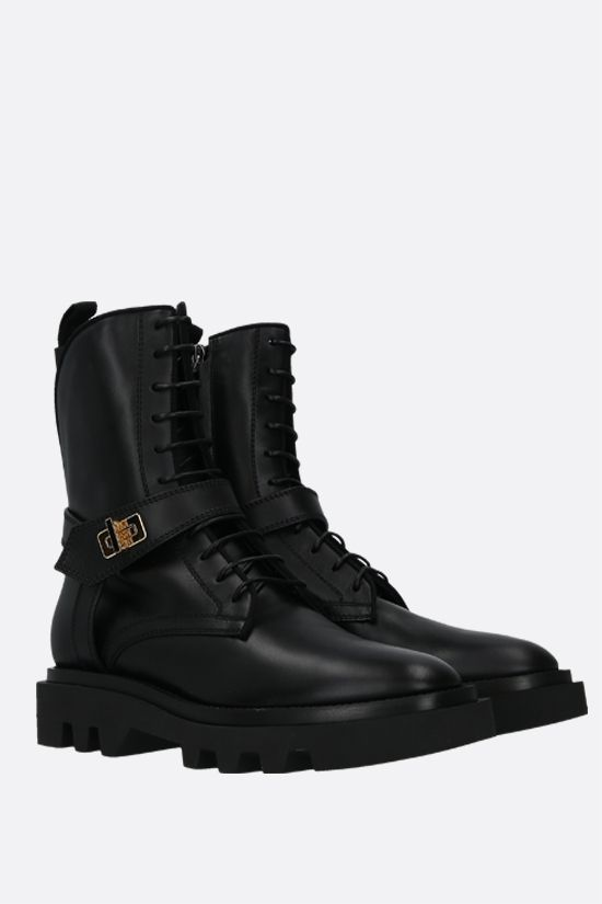 GIVENCHY: Eden smooth leather combat boots Color Black_2
