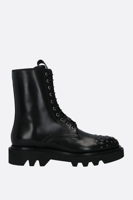 GIVENCHY: smooth leather combat boots Color Black_1