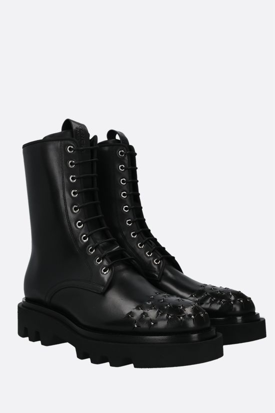 GIVENCHY: smooth leather combat boots Color Black_2