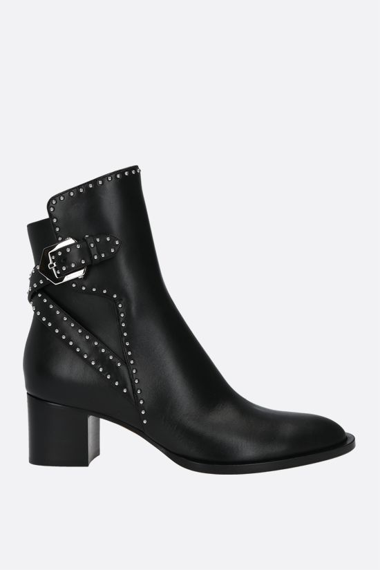 GIVENCHY: Elegant smooth leather ankle boots Color Black_1
