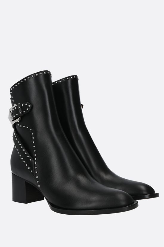 GIVENCHY: Elegant smooth leather ankle boots Color Black_2