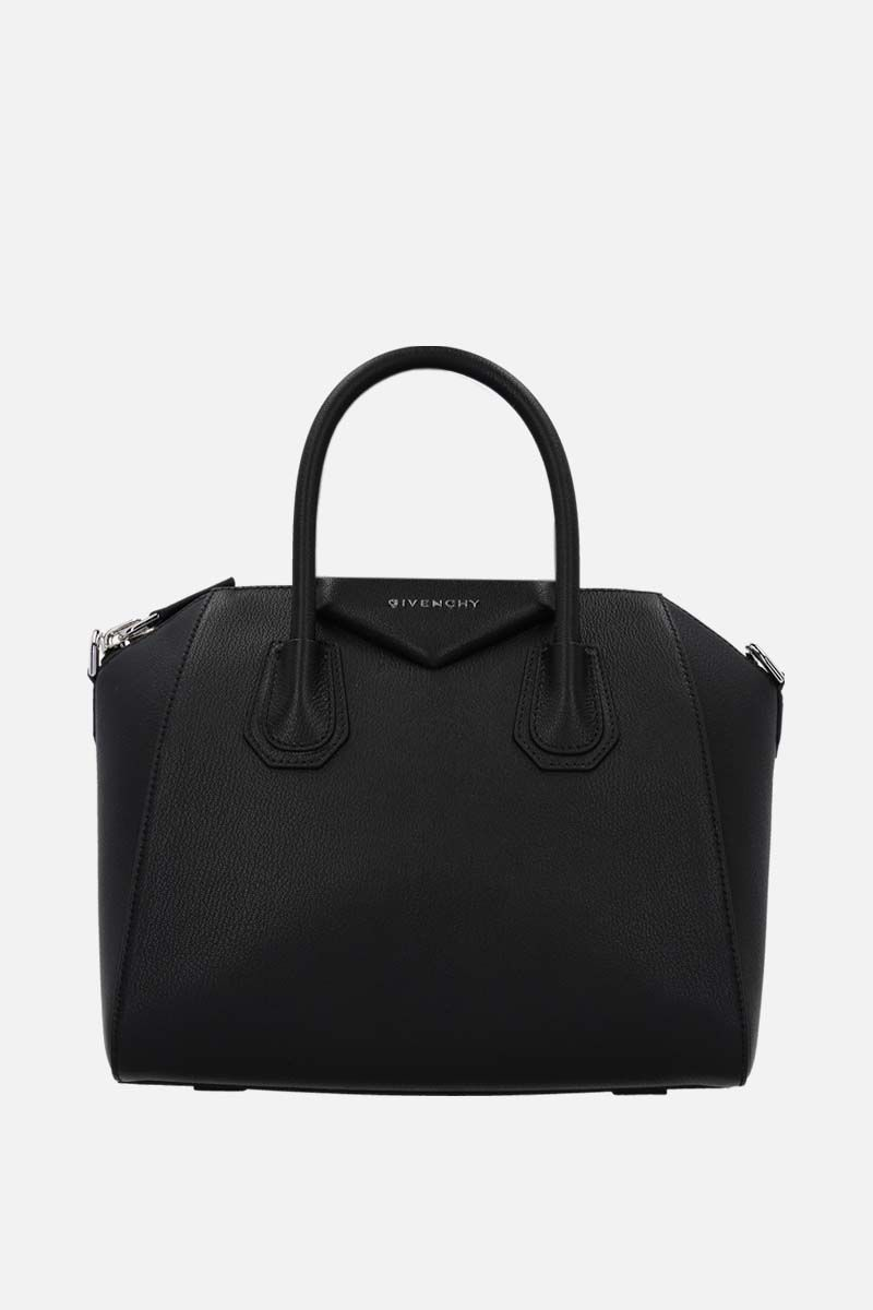 GIVENCHY: Antigona medium grainy leather handbag Color Black_1