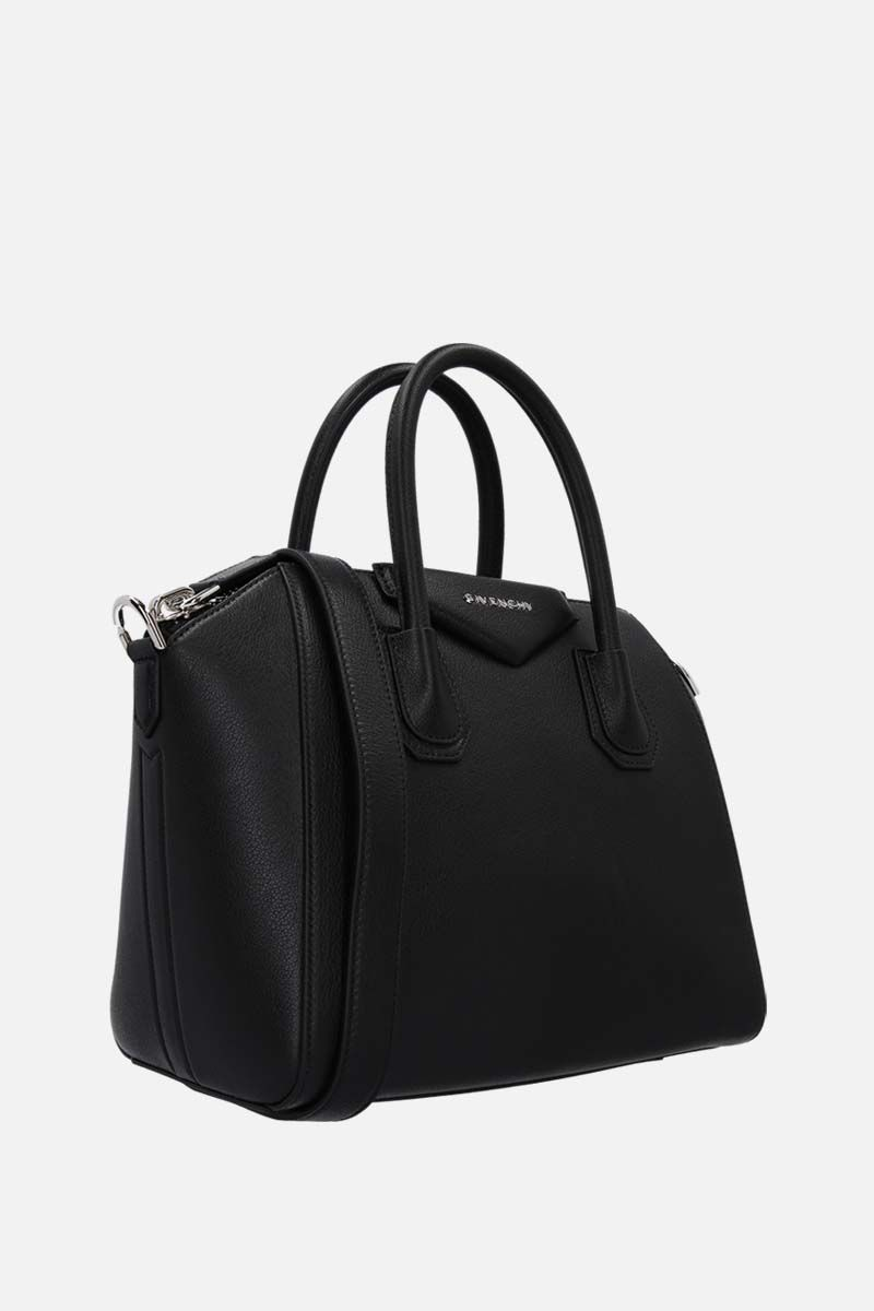 GIVENCHY: Antigona medium grainy leather handbag Color Black_2