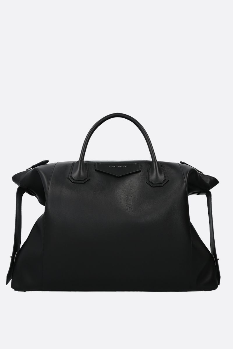 GIVENCHY: Antigona Soft large smooth leather handbag Color Black_1