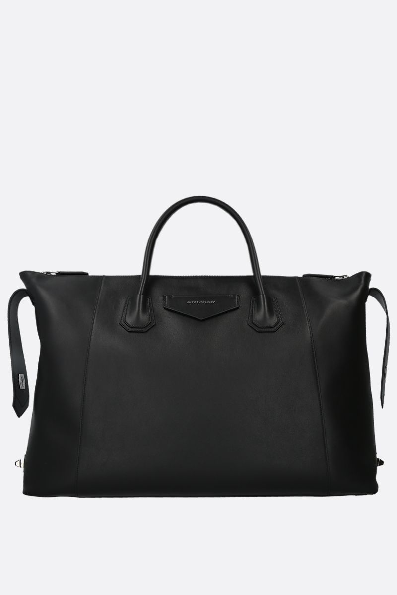 GIVENCHY: Antigona Soft large smooth leather handbag Color Black_2