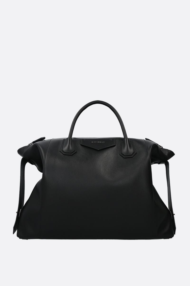 GIVENCHY: Antigona Soft mediium smooth leather handbag Color Black_1