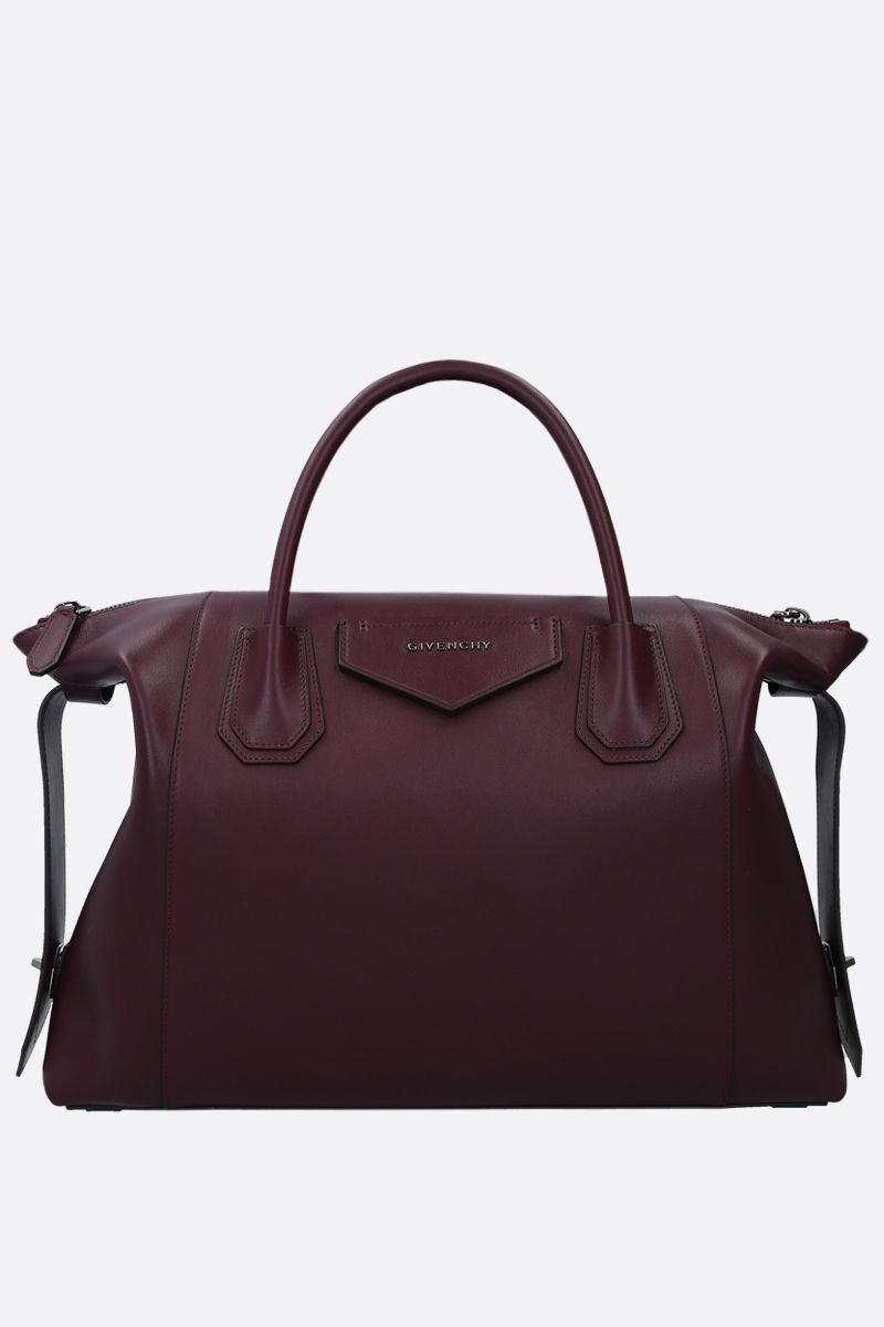 GIVENCHY: Antigona Soft mediium smooth leather handbag Color Purple_1