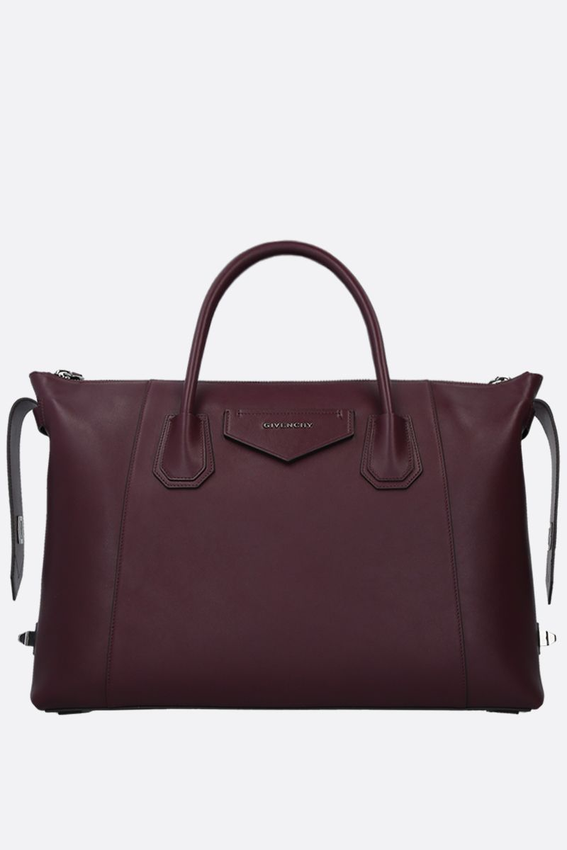 GIVENCHY: Antigona Soft mediium smooth leather handbag Color Purple_2