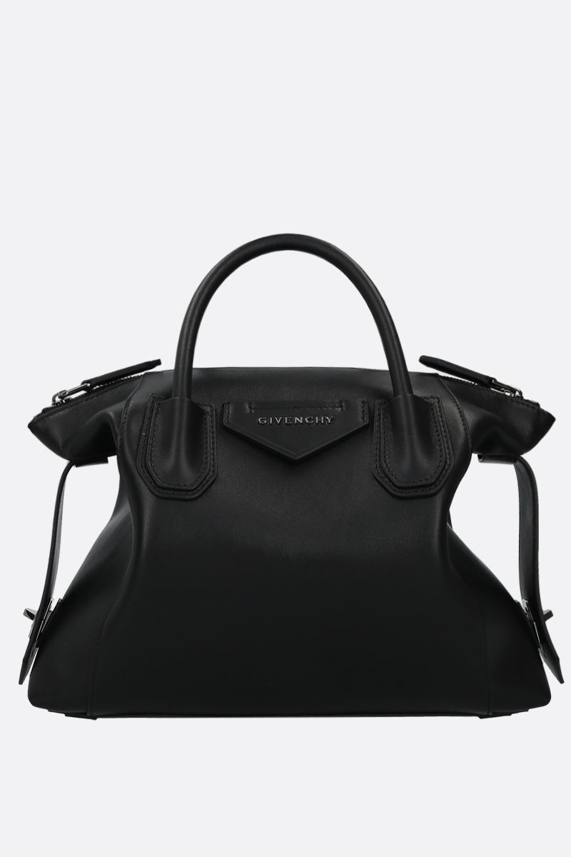GIVENCHY: Antigona Soft small smooth leather handbag Color Black_1