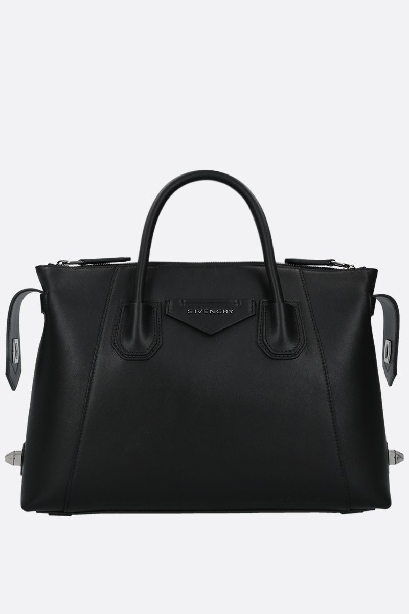 GIVENCHY: Antigona Soft small smooth leather handbag Color Black_2