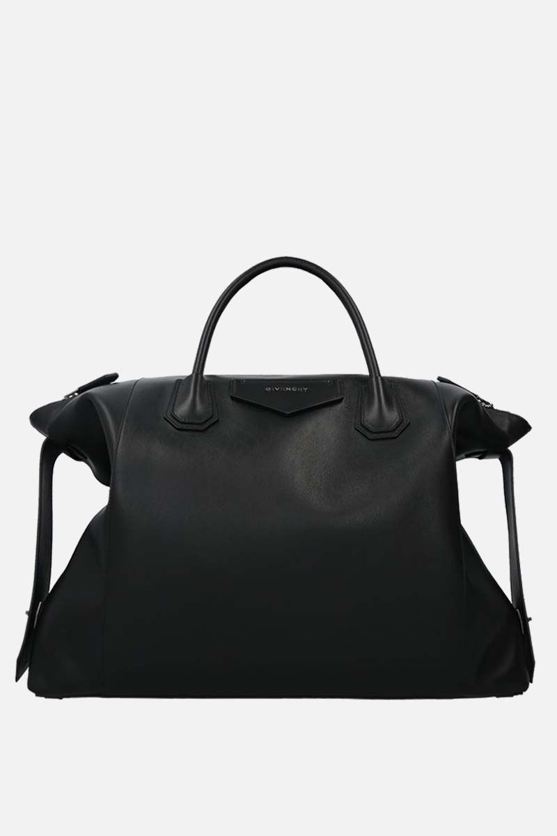GIVENCHY: Antigona Soft XL smooh leather handbag Color Black_1