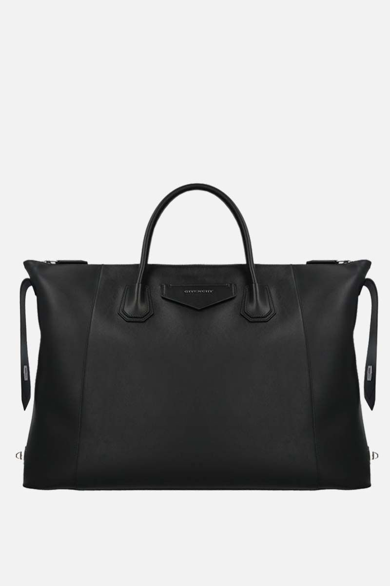 GIVENCHY: Antigona Soft XL smooh leather handbag Color Black_2