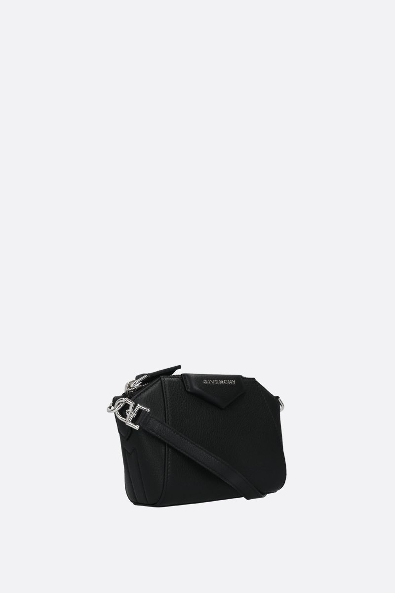 GIVENCHY: nano Antigona grainy leather crossbody bag Color Black_2
