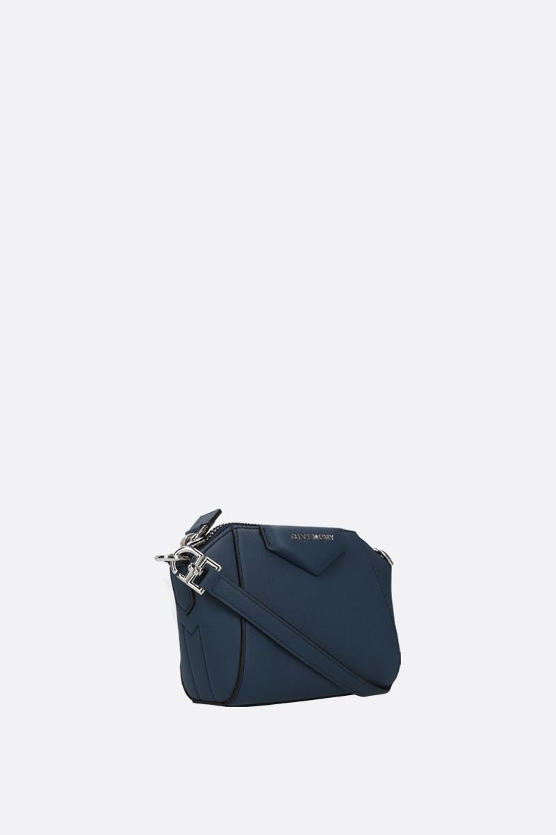 GIVENCHY: nano Antigona grainy leather crossbody bag Color Blue_2