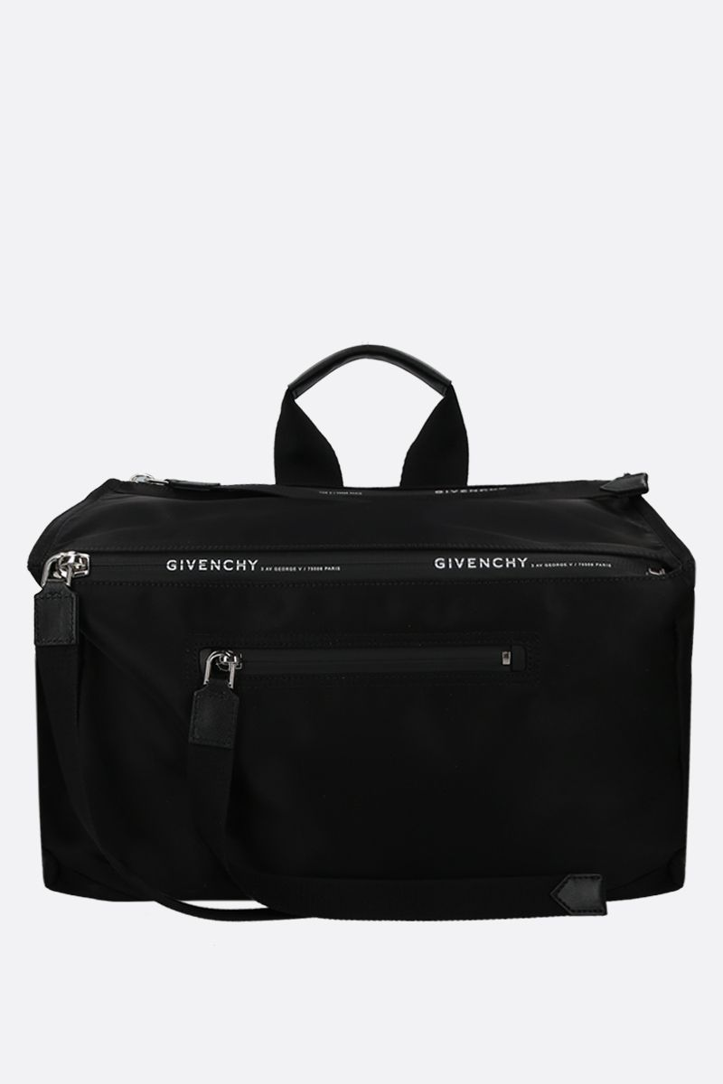 GIVENCHY: Pandora nylon messenger bag Color Black_1