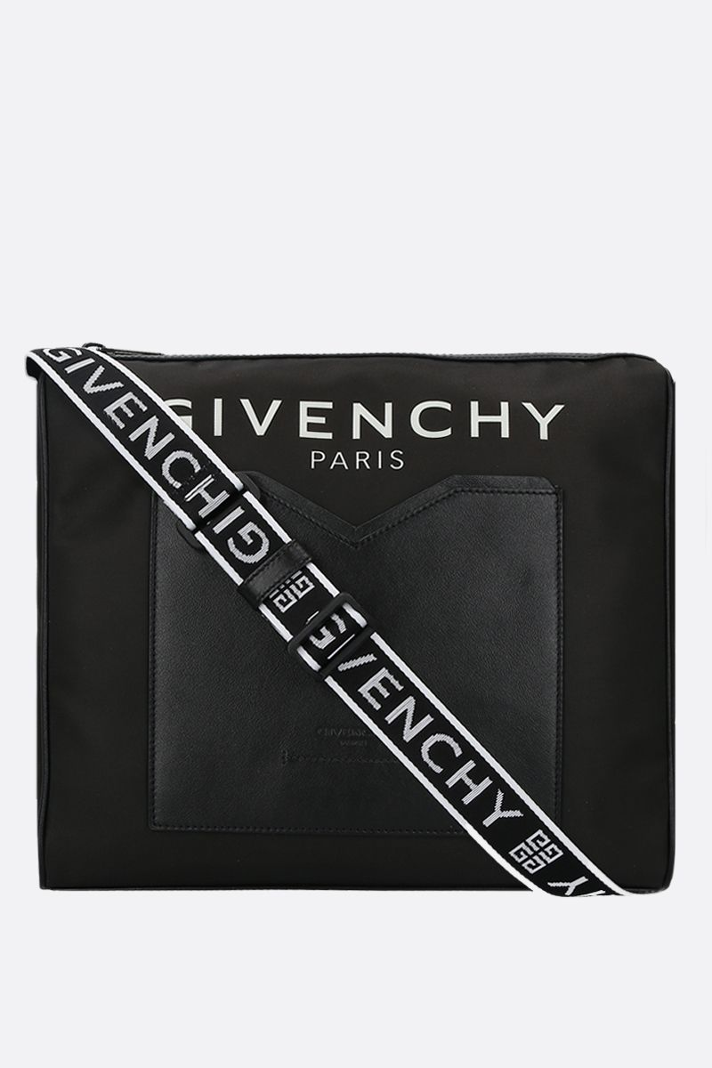 GIVENCHY: Light 3 nylon crossbody bag Color Black_1