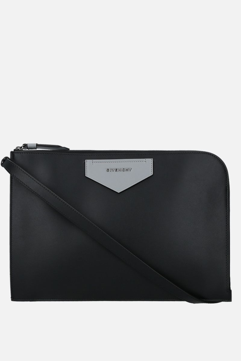 GIVENCHY: Antigona Soft smooth leather crossbody bag Color Black_1