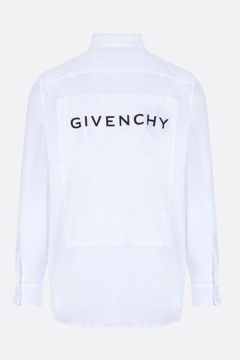 GIVENCHY: Givenchy print cotton shirt Color White_2