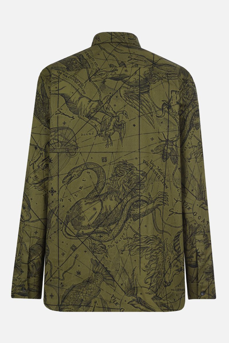 GIVENCHY: Astral print cotton shirt Color Green_2