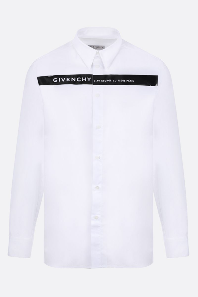 GIVENCHY: Givenchy Adresse band cotton shirt_1