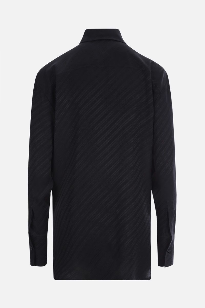 GIVENCHY: Givenchy Chaine motif silk shirt Color Black_2