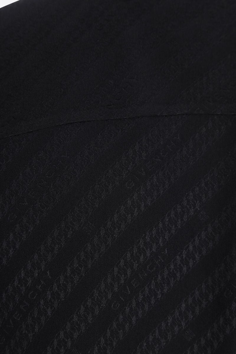 GIVENCHY: Givenchy Chaine motif silk shirt Color Black_4