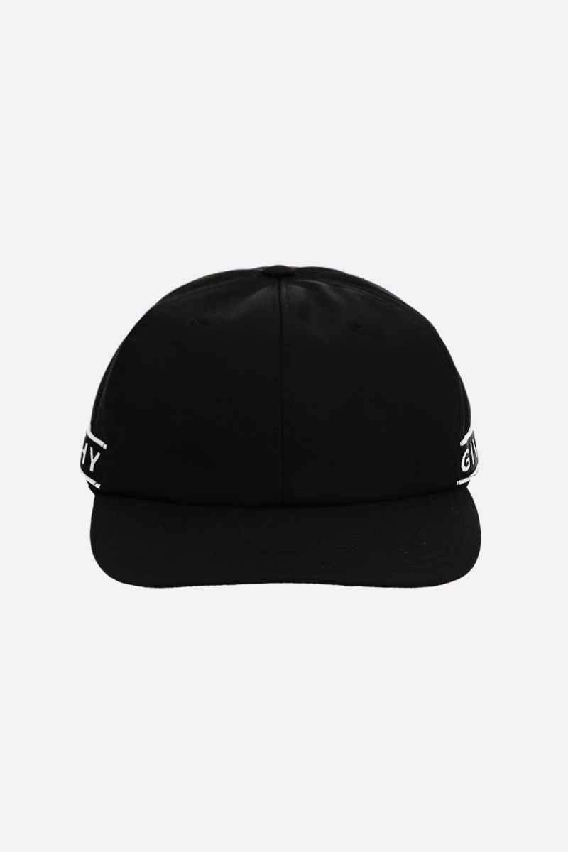GIVENCHY: logo tape-detailed nylon baseball cap Color Black_1