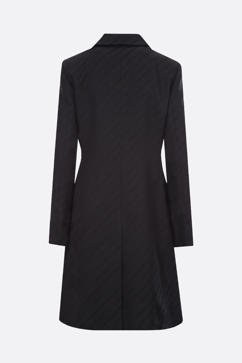 GIVENCHY: Givenchy Chaine-motif jacquard double-breasted coat Color Black_2