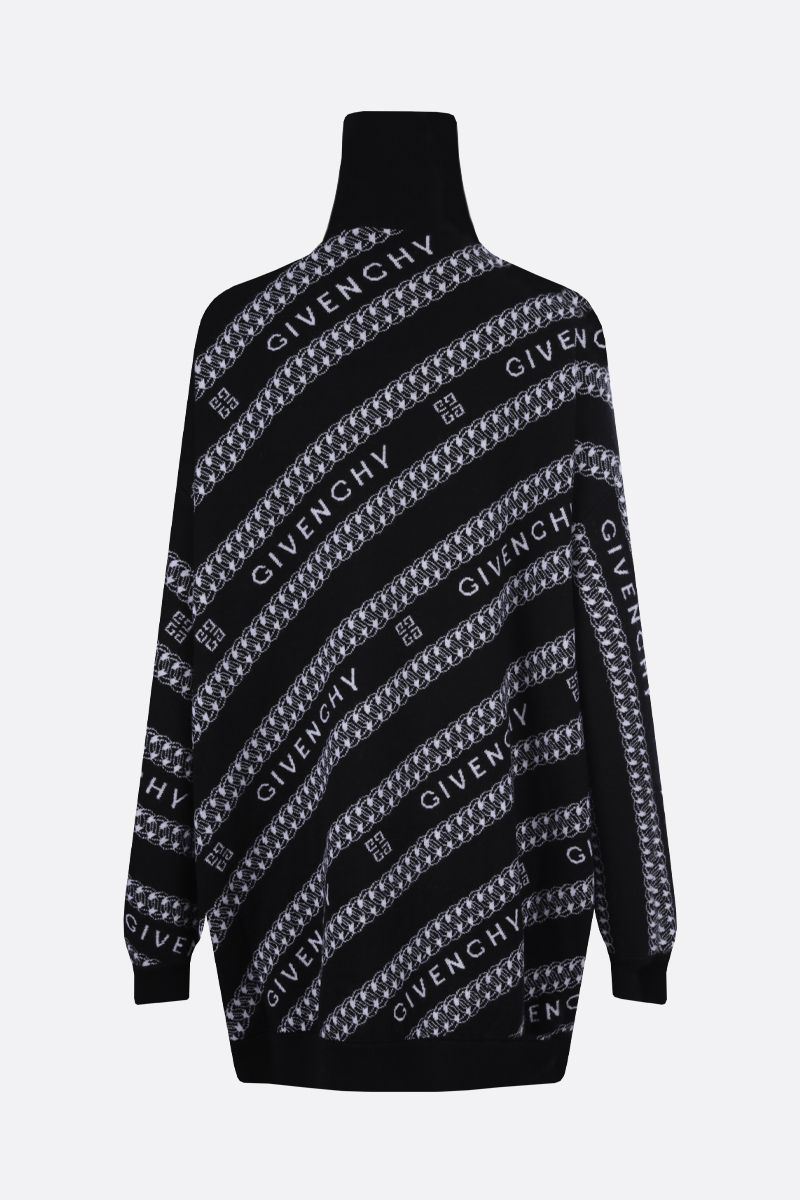 GIVENCHY: Givenchy Chaine wool oversize cardigan Color Black_2